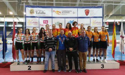 Dos oros en Tafalla, campeonato de España de pista