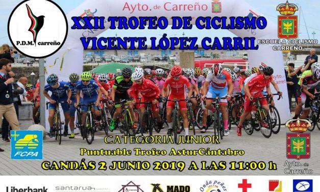 Inscribirse en el XXII Trofeo Vicente López Carril