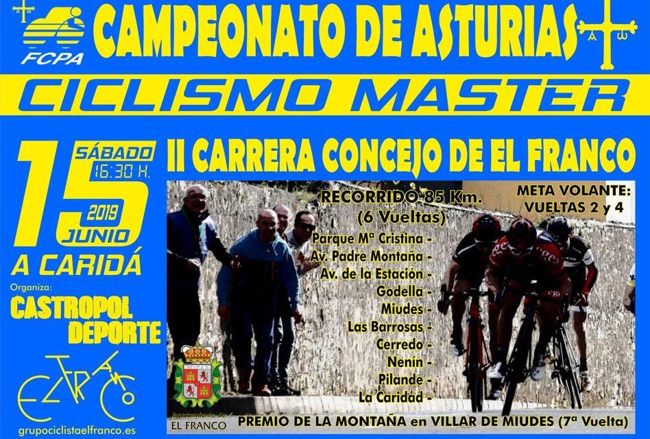 Campeonato de Asturias en Ruta para Master (30-40-50-60): inscripciones abiertas