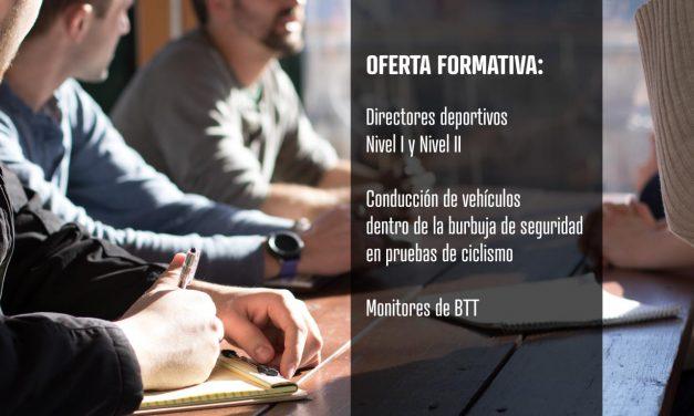 Oferta formativa: Directores deportivos, Conducción de vehículos y Monitores BTT