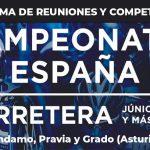 Programa de reuniones y competiciones de los Campeonatos de España Junior y Máster