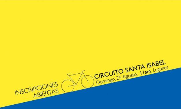 Circuito Santa Isabel, 25 Agosto, Lugones: inscripciones abiertas