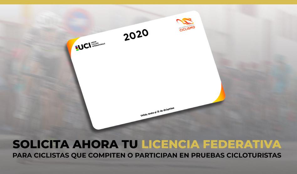 Solicita ya tu licencia y Carnet Ciclista para la temporada 2020