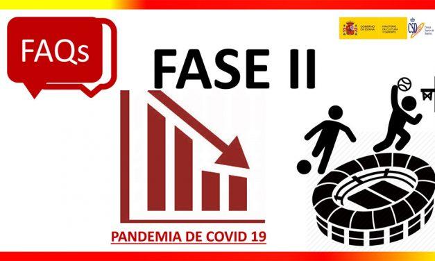 Guía de Preguntas Frecuentes Fase 2 Covid 19 (Ministerio de Cultura y Deportes)