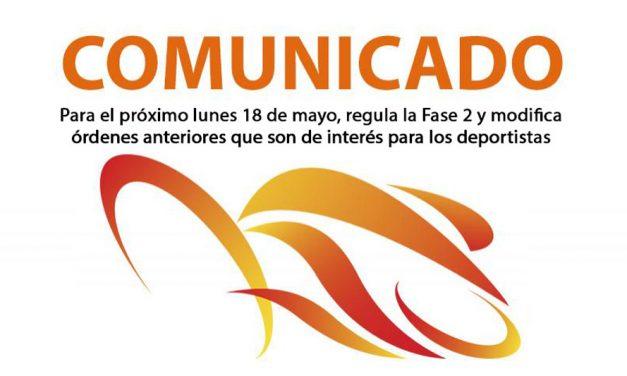 Comunicado de la RFEC y sus FFAA respecto a la Orden publicada el 16 de mayo
