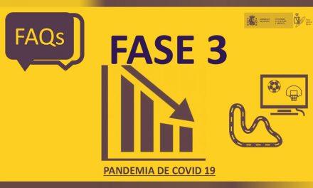 Guía de Preguntas Frecuentes Fase 3 Covid 19 (Ministerio de Cultura y Deportes)