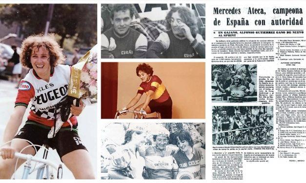 Mercedes Ateca Gómez, pionera del ciclismo femenino