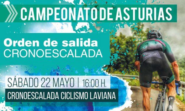 Orden de salida del Campeonato de Asturias de Cronoescalada (Laviana, 22 Mayo)